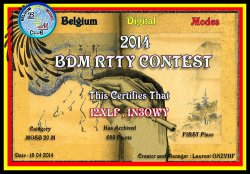1° classificato BDM RTTY Contest per I2XLF Nino e IN3OWY Antonio