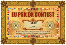 1° classificato in Italia per European PSK 2013: IK2SBB Adamo